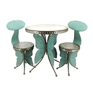 Dolder Grand Old Butterfly 3 Piece Bistro Set by Rosalind Wheeler