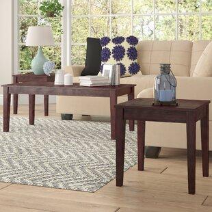 Winston Porter Clopton 3 Piece Coffee Table Set