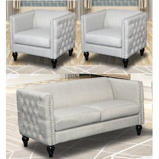 Annuziata 3 Piece Living Room Set by House of Hampton SKU:DC809294 Price Compare