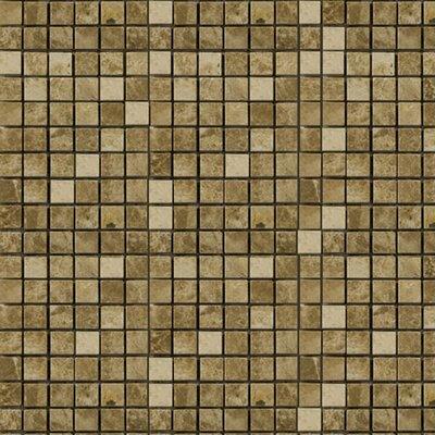 063 x 063 Marble Mosaic Tile Epoch Color Emperador Light