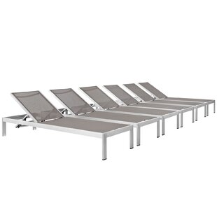 Coline Outdoor Patio Single Chaise (Set of 6)