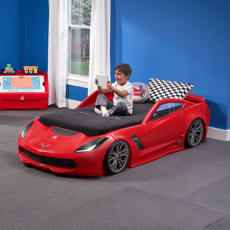Wayfair Step2 Corvette Twin Toddler Car Bed