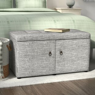 Great Price Argent Upholstered Shoe Storage Bench ByAndover Mills
