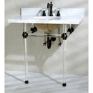 Price comparison Templeton 12.25 Console Bathroom Sink with Overflow By Kingston Brass