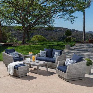 Castelli 6 Piece Sofa Set with Sunbrella Cushions