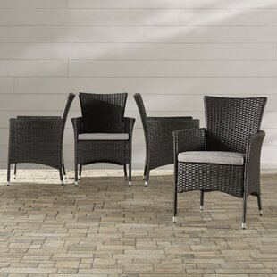 Mcnealy Patio Dining Chair with Cushion (Set of 2)