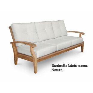 Lowery Teak Patio Sofa with Sunbrella Cushions