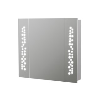 Imogen 65cm X 60cm Surface Mount Mirror Cabinet With LED Lighting By Wade Logan