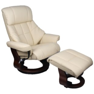 Bergamo Manual Swivel Recliner with Ottoman