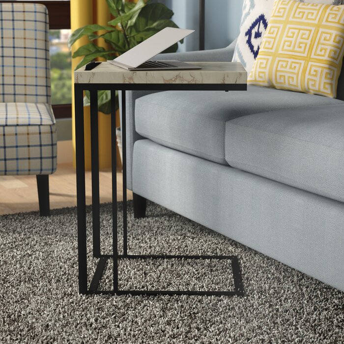 Admirable Conklin Slide Under Sofa End Table Andrewgaddart Wooden Chair Designs For Living Room Andrewgaddartcom