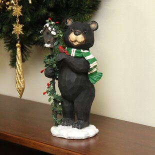 black grizzly bear christmas decoration