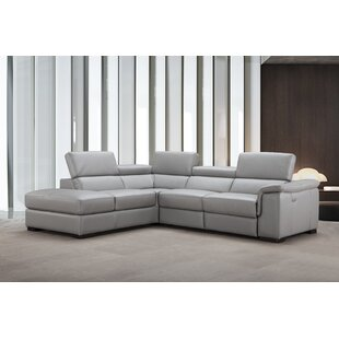 Cropsey Leather Reclining Sectional by Brayden Studio