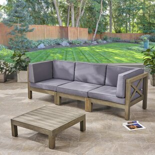 Anneke 4 Piece Sofa Seating Group with Cushions