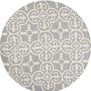 Nicholls Hand-Tufted Wool Gray Area Rug by One Allium Way