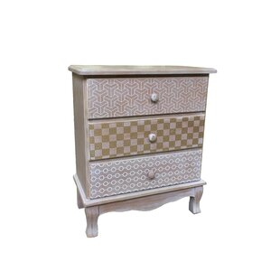 Au Wooden 3 Drawer Accent Ches..