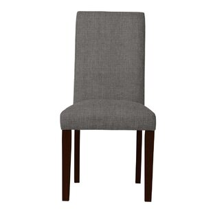 Beachwood Solid Back Upholstered Parsons Chair (Set of 2) by Latitude Run