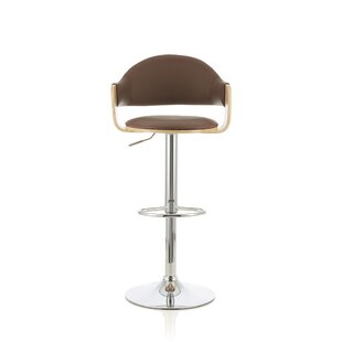 Amundsen Height Adjustable Swivel Bar Stool By Mercury Row