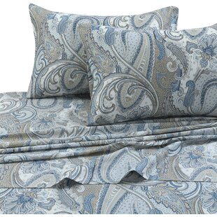 Darby Home Co Feeney Paisley 300 Thread Count 100% Cotton Sheet Set