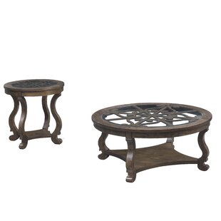 Caigan 2 Piece Coffee Table Set