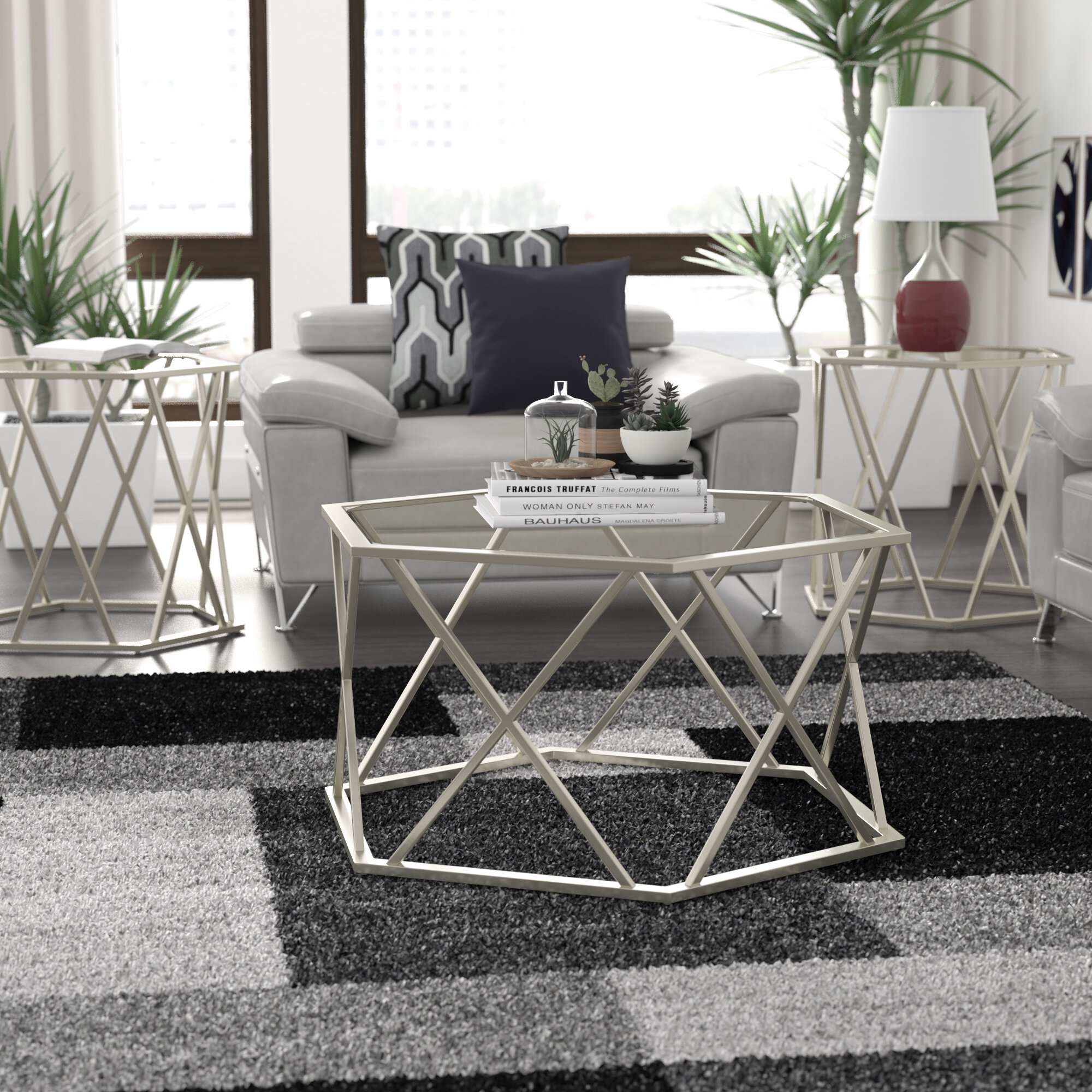 Orren Ellis Howard 3 Piece Coffee Table Set & Reviews | Wayfair