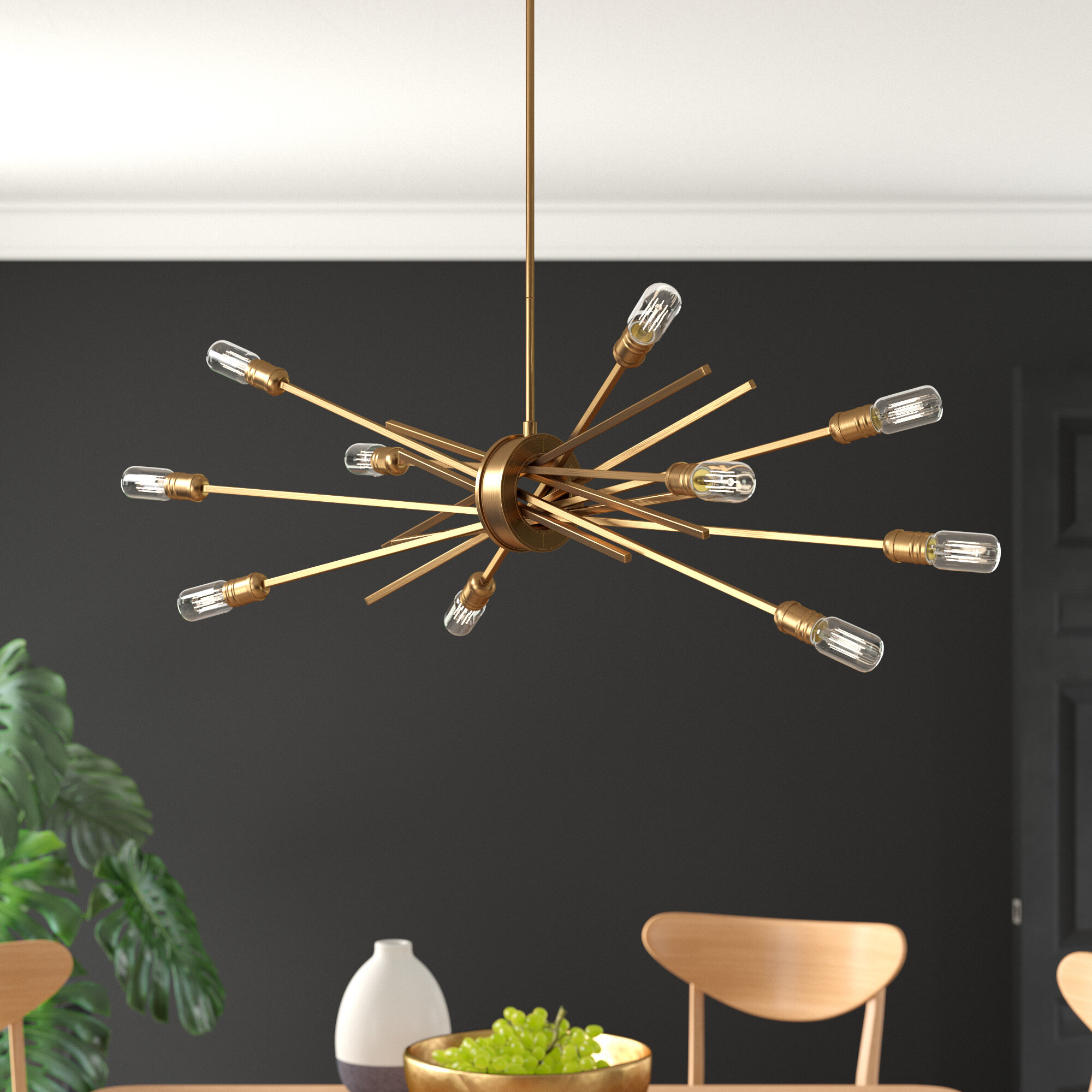 Mercury Row Byler 10 Light Sputnik Sphere Chandelier Reviews Wayfair