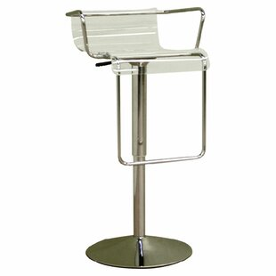 Spicer Adjustable Height Swivel Bar Stool by Ebern Designs
