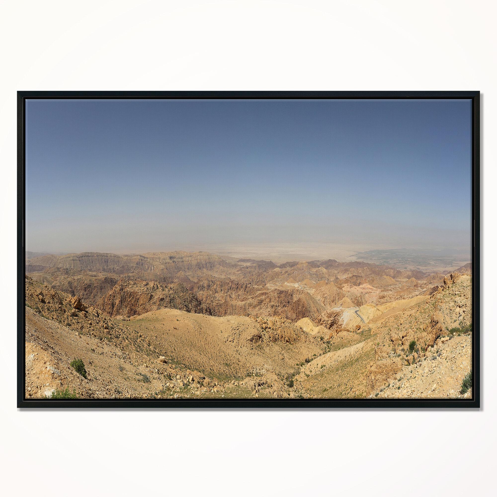 East Urban Home Panorama Desert Hills Jordan Framed Photograph On Canvas Wayfair