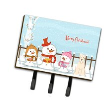Merry Christmas Carolers Soft Coated Wheaten Terrier Leash or Key Holder by Caroline's Treasures