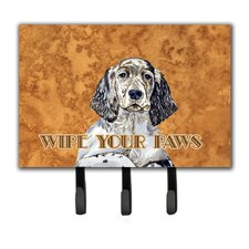English Setter Wipe Your Paws Leash Holder and Key Hook by Caroline's Treasures