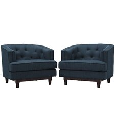 Coast Barrel Chair (Set of 2) by Modway
