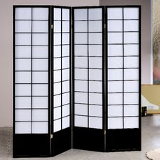 72 X 72 Wood 4 Panel Room Divider