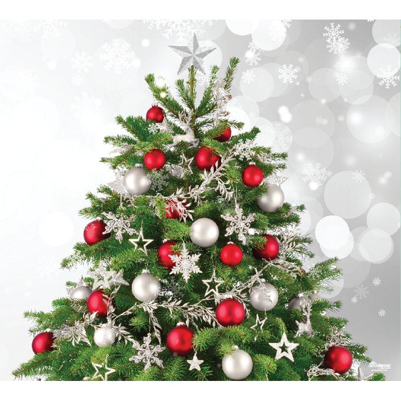 2 Christmas Tree.Merry Christmas Tree Garage Door Mural 2 Piece Set