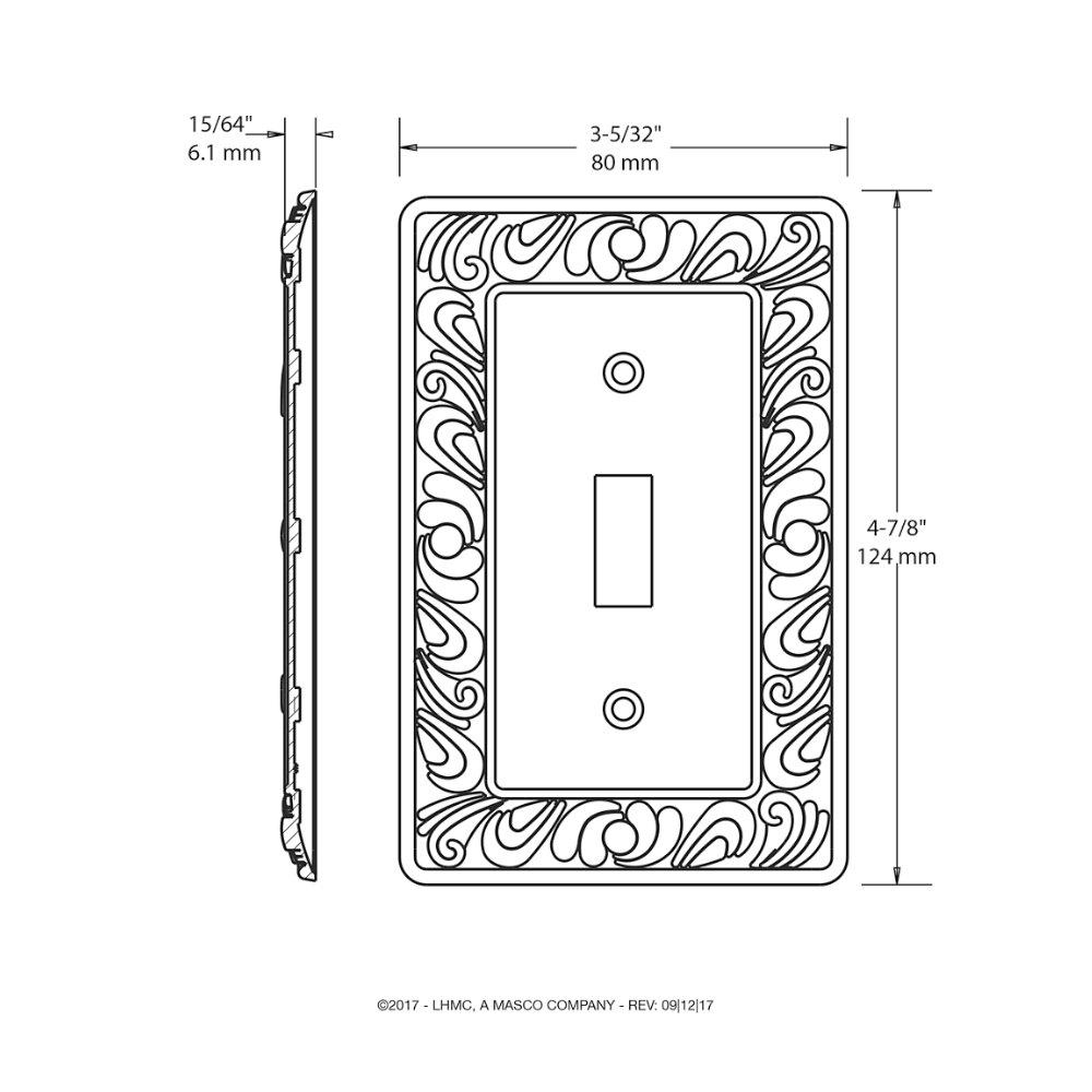 Franklin Brass Paisley 1 Gang Toggle Light Switch Wall Plate Reviews Wayfair