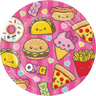 Food Love Paper Plate (Set of 24)