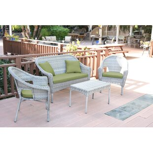 Weaver Conversation 4 Piece Sofa Seating Group with Cushions
