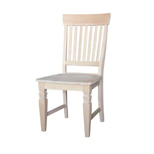 Lowell Solid Wood Dining Chair (Set of 2) Rosecliff Heights