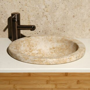 Allstone Group Sandstorm Stone Circular Drop-In Bathroom Sink