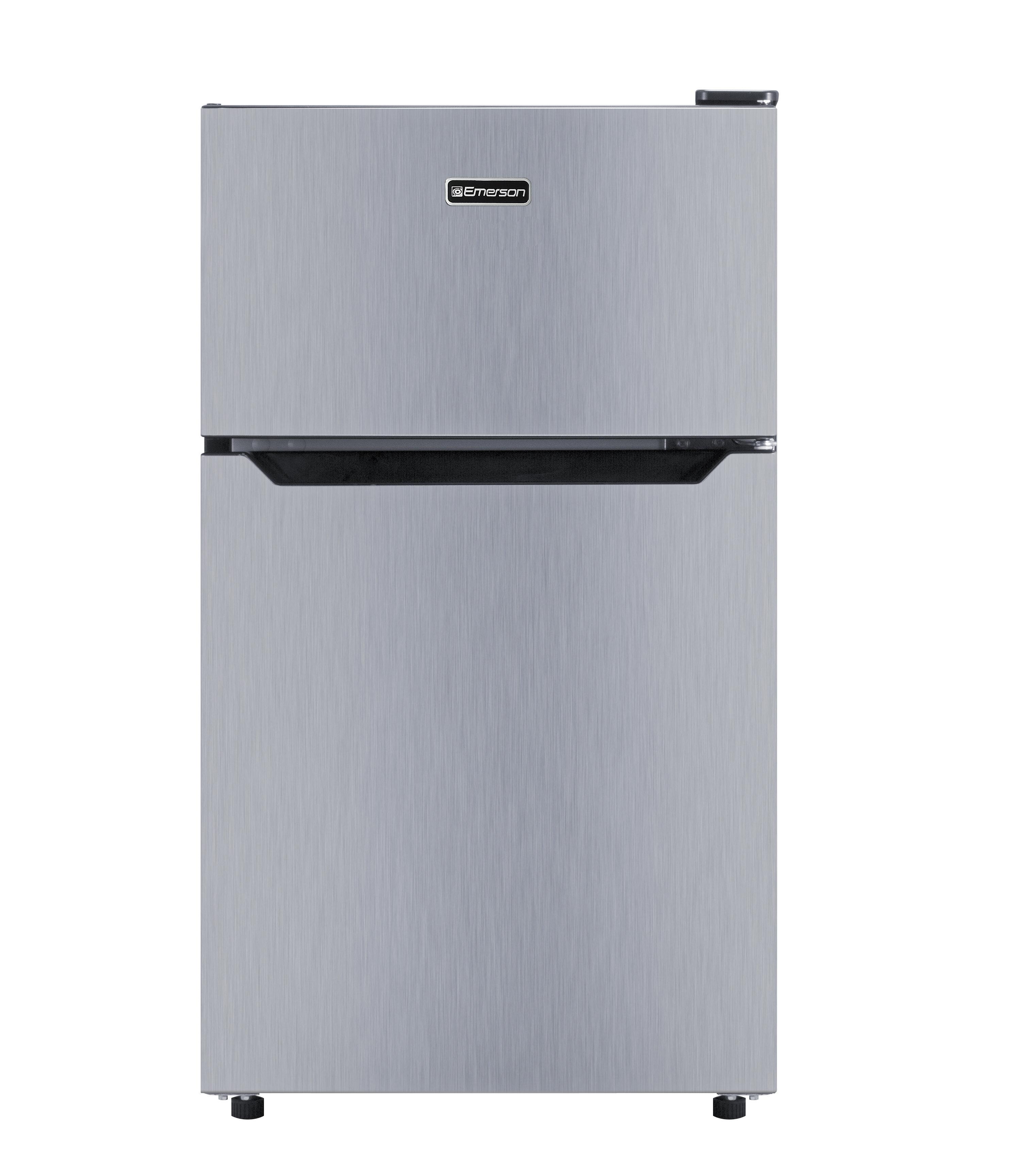 2 Door 3.3 Cu. Ft. Compact Refrigerator With Freezer   Wayfair