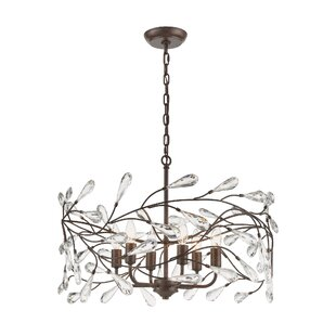 Alcott Hill Melnick 4 Light Shaded Geometric Chandelier More Reviews