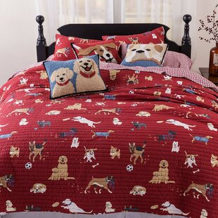 Dog Park 3 Piece Reversible Quilt Set