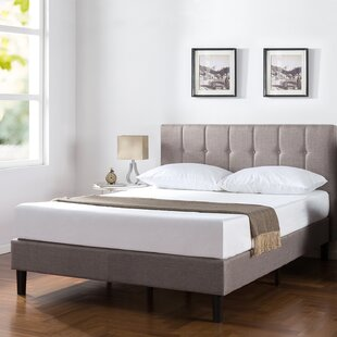 Barton Vertical Detailed Upholstered Platform Bed by Trule Teen