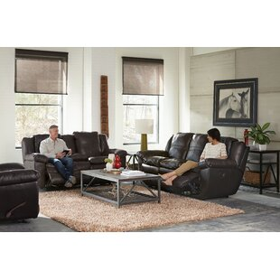 Catnapper Aria Leather Reclining Loveseat