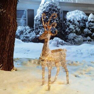 crystal standing deer christmas decoration