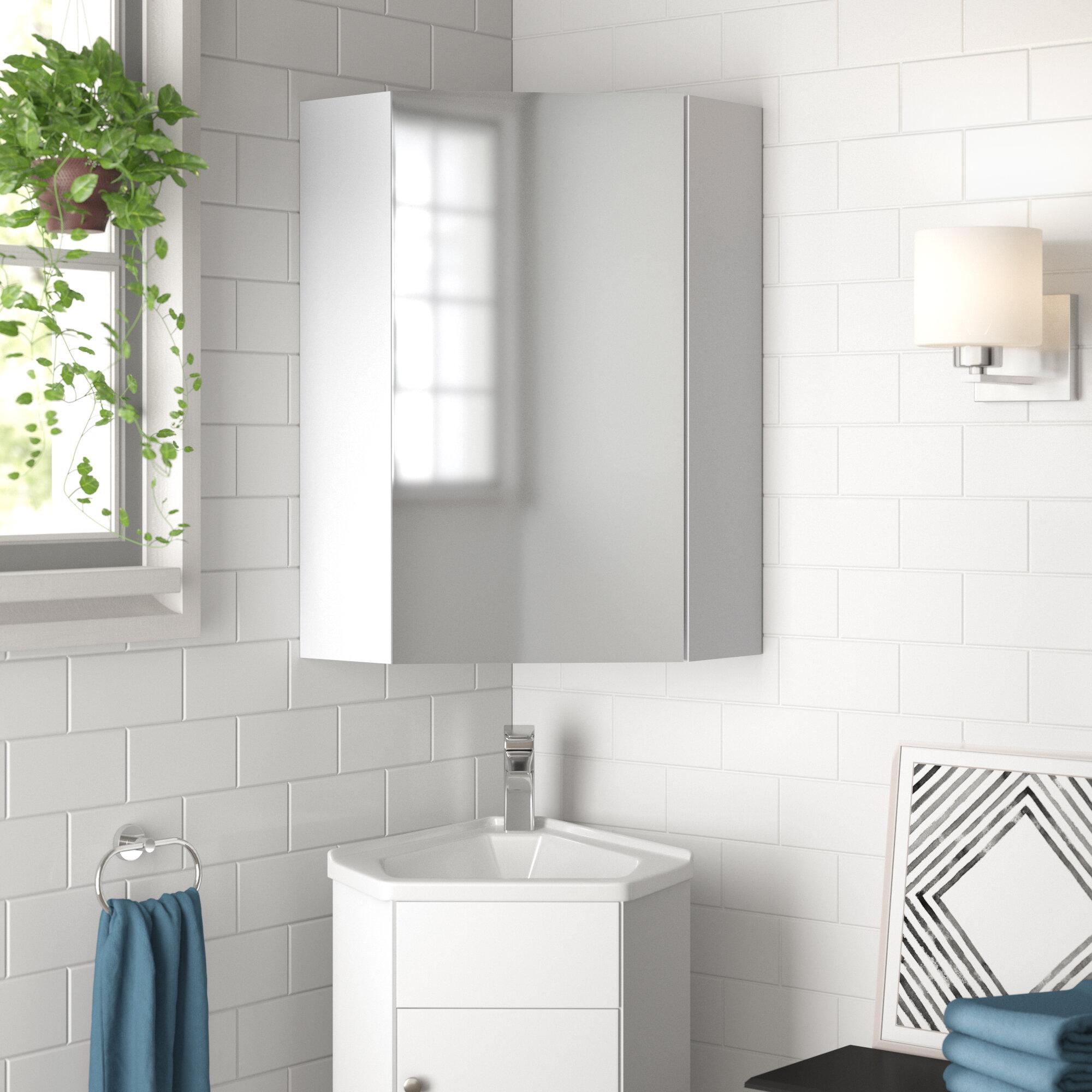 Picture of: Zipcode Design Bluffton 14 X 23 5 Corner Mount Medicine Cabinet Wayfair
