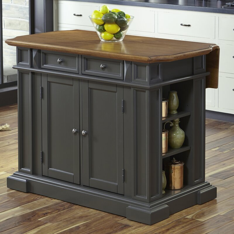 Home Styles Americana White Kitchen Island With Drop Leaf: August Grove Collette Kitchen Island & Reviews