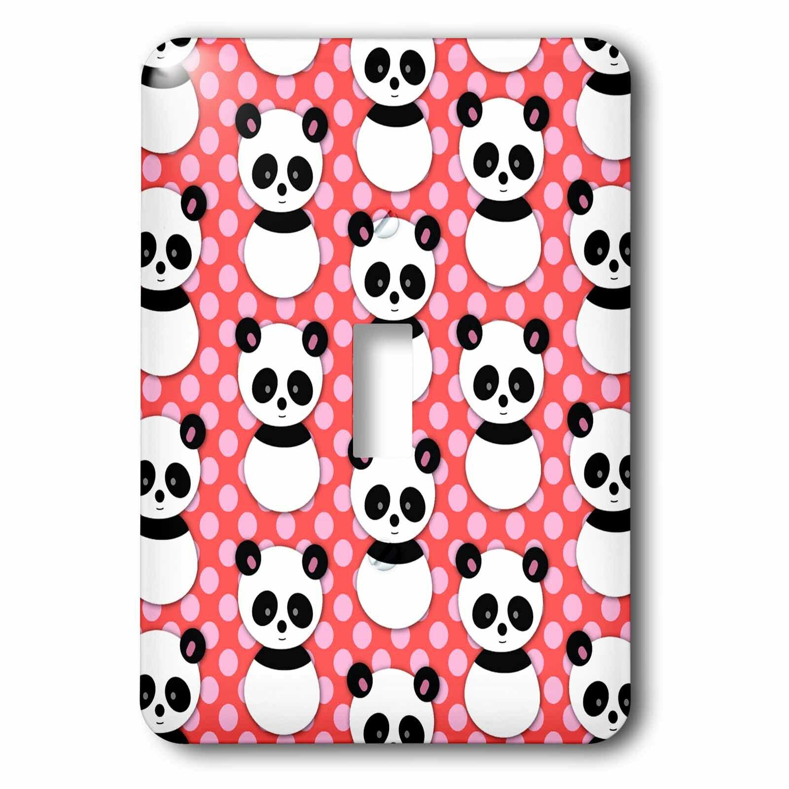 Cute Panda Decorative Outlet Duplex Light Switch Plate Cover Handmade Products Kolenik Home Kitchen