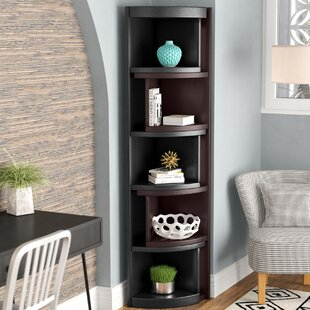 Howard Miller Jennings Medium Brown Wood 5-shelf Living Room Corner Curio  Cabinet