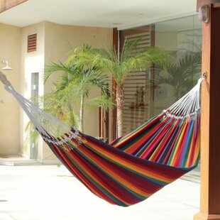 Striped Cotton Tree Hammock by Novica Best #1