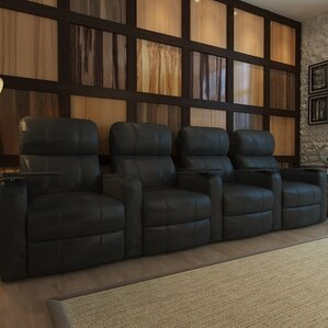 Home Theater Recliner (Row of 4) by Red Barrel Studio