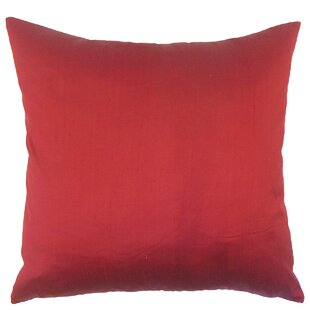 Misty Solid Down Filled Silk Throw Pillow